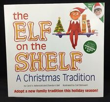 The Elf on the Shelf A Christmas Tradition with BOY Blue Eyes Book and Plush