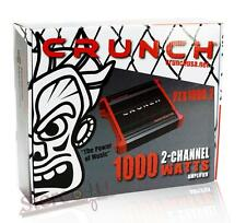 Crunch PZX1000.2 1000 Watt 2 Channel Car Power Amplifier Class AB 2CH/AMP