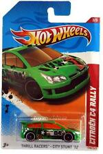 2012 Hot Wheels #198 Thrill Racers - City Stunt Citroen C4 Rally green