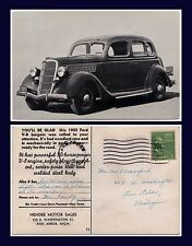 US MICHIGAN ANN ARBOR EAST WASHINGTON ST HENDEE MOTOR SALES 1935 FORD V-8 SEDAN