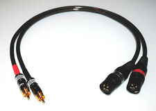 2x1,00m Sommercable SPIRIT XXL / HighEnd Adapterkabel / Cinch - XLR male