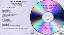 THURSTON MOORE Psychic Hearts UK 15-trk promo test CD Sonic Youth