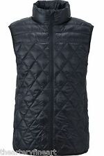 UNIQLO Men's Ultra Light Down Diagonal Quilted Vest BLACK S w/ Carry Pouch *NWT*