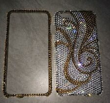 Crystal Gold Bling Case Cover For IPHONE 6s 6 PLUS Made W/ SWAROVSKI Elements