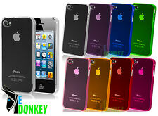 CUSTODIA CASE COVER PROTECTOR PER APPLE IPHONE 4 4S SLIM TRASPARENTE + PELLICOLA