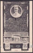 PISA CITTÀ 47 CESARE BATTISTI - IRREDENTISMO Cartolina