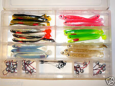 MB Fishing Stint Shad BOX Nr. 3 / 12,5 cm incl Jig & Stinger Zander Gummifisch