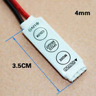 Mini Controller Dimmer Switch For RGB 5050 3528 SMD LED Lights Strip DC EW