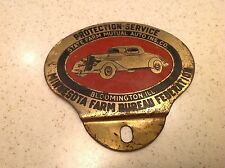 1930-1940's Vintage Minn State Farm Bureau Emblem Badge License Plate Topper