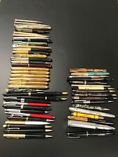 Vintage Fountain Pen Lot of 52 Sheaffer Rolex Parker Eversharp pcs Some 14k Nibs