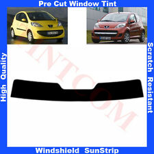 Pre Cut Window Tint Sunstrip for Peugeot 107 3 Doors Hatchback 2005-.. Any Shade