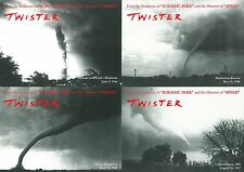TWISTER promotional postcards (set of 4) BILL PAXTON, HELEN HUNT