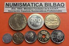 ESPAÑA ULTIMAS PESETAS 2000/2001 SC 1+5+10+25+50+100+200+500 JUAN CARLOS I SERIE