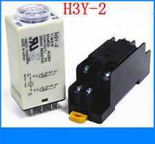 110V H3Y-2 Power On Time Delay Relay Solid-State Timer 2.0-60S DPDT 8Pins&Socket