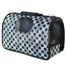 Negro Y Blanco L para Mascota Perro Gato Cachorro portador de transporte portátil de viaje Bolso Jaula Crate