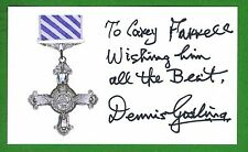 Denis Gosling Dec WWII Night Fighter Navigator RAF Signed 3x5 Index Card E14402