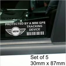 5 x Mini GPS Tracking Device Security Stickers-Clubman,Mk I,II,Car Alarm Tracker