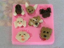 Dog Face Silicone Mould - Fondant/clay