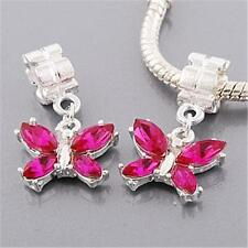 HOT PINK Butterfly Dangle Charm For Bracelets & Necklaces Buy 2 Get 1 FREE