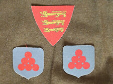 Force 135 Jersey Set reproduction printed badges WWII for Battledress