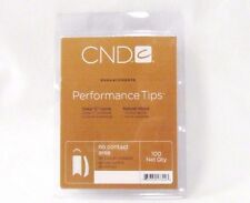 CND Creative Nail Tips PERFORMANCE WHITE 100ct/tray