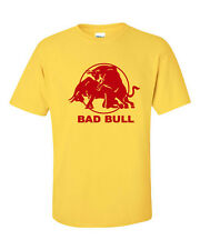 Bad Bull Having Sex Red Sexual Joke Energy Drink Funny Men's TShirt 380