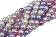 50 Purple Haze Pearl Mix Czech Glass Beads 6MM LIMITED