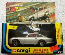 James Bond 007  Corgi # 271 Aston Martin DB5  (1977)  FIRST RELEASE!