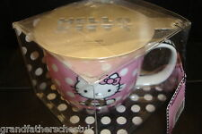 JAPANESE ANIME HELLO KITTY CAPPUCCINO LARGE COFFEE CUP MUG STENCIL GIFT SET