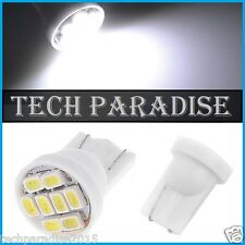 2x Ampoule T10 / W5W / W3W LED 8 SMD 1206 Blanc White veilleuse lampe light 12V