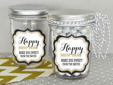 24 Personalized New Years Eve Mini Mason Jars Winter Wedding Party Favors