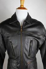 Guess Leather Jacket Mens Size Medium Brown Bomber