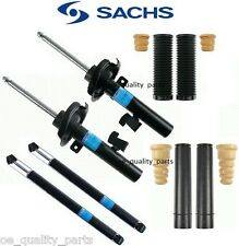 FULL SUSPENSION FRONT + REAR SHOCK ABSORBERS DAMPERS COVERS FORD FOCUS II SACHS