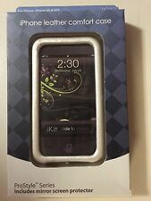 New iKit Pro Style Leather Comfort Case For IPhone 3G 3GS w/ screen protector
