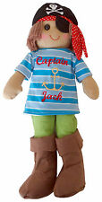 Personalised Xmas Gift  Pirate Boat Ship Anchor Boy Rag Doll 45cm Childs Toy