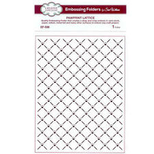 "CREATIVE EXPRESSIONS 5 3/4 x 7 1/2"" Embossing Folder Sue Wilson PAWPRINT LATTICE"