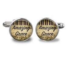 Mens Cufflinks -  accessories  -Christian jewelry- Amazing Grace Cufflinks