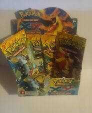 POKEMON - EMPTY BOOSTER DISPLAY BOX AND ALL PACK ARTS - FLASHFIRE
