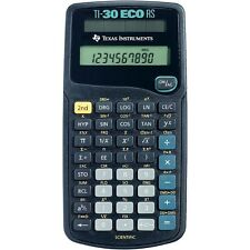 Texas Instruments TI-30 calculadora científica RS sola línea Eco-Solar Powered