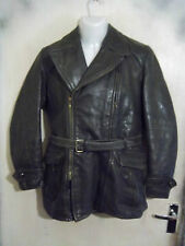 "VINTAGE WW2 GERMAN LUFTWAFFE HORSEHIDE LEATHER FLYING JACKET SIZE 40"" ZIPP ZIPS"