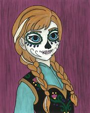 Anna Day of the Dead print 8X10, Comic character and Pop Art