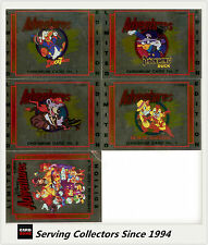1993 Australia Dynamic Disney Adventure Trading Card Chromium Set (5)