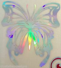 Butterfly Fancy Rainbow Holographic Car Decal Sticker Laptop Window Large 15-97