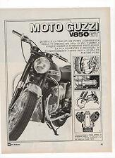 Pubblicità epoca 1972 MOTO GUZZI V850 GT MOTOR advert werbung publicitè reklame