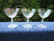 Fostoria  Carnival Glasses .Set of 3