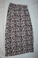 Womens Skirt LONG MAXI Black Gray Print S 4-6 M 8-10 L 12-14 XL 16-18 1X 2X 3X