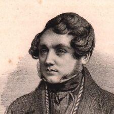 Portrait Louis Desnoyers Replonges Ain Société des Gens de Lettres Journaliste
