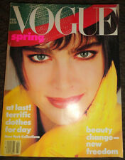 Vintage Vogue 2/1986 Renee Simonsen Paulina Porizkova Christy Turlington Spain