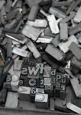 10 kg caractères en plomb lettres typographie imprimerie letterpress tampon ABC