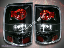 2004-2008 FORD F 150 F-150 TAIL LIGHTS BLACK BRAKE LAMPS